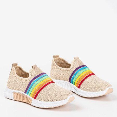 Бежевая женская спортивная обувь-слип - на Sweet Rainbow - Обувь
