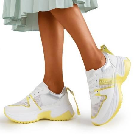 Бело-желтые спортивные туфли Evanile - Обувь