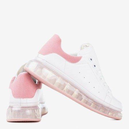 Бело-розовые кроссовки на более толстой подошве Judite - Обувь