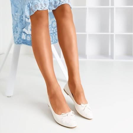 Белые женские балетки из экокожи Dafna - Обувь