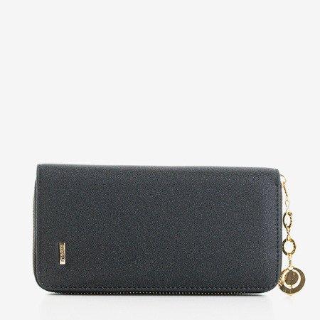 Большой глянцевый черный кошелек для женщин - Кошелек