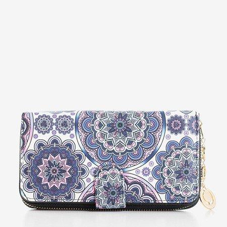 Большой женский кошелек с рисунком фиолетового цвета - Кошелек