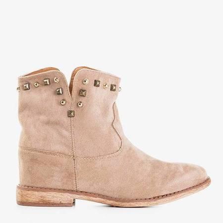 Ботинки с закрытой танкеткой светло-коричневого цвета Bruneo - Обувь