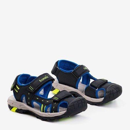 Детские черные спортивные сандалии со вставками из кобальта Krifia - Обувь