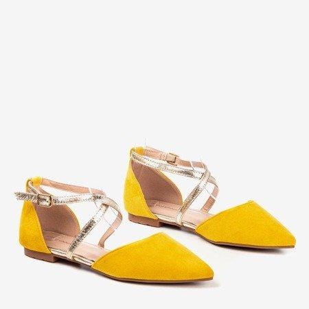 Желтые женские балетки на плоской подошве Vosia - Обувь