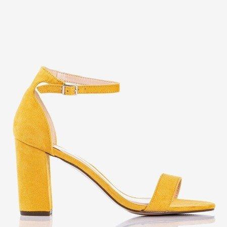 Желтые женские сандалии на стойке Sweet Honey - Обувь