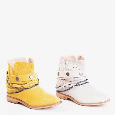 Желтые ковбойские сапоги на танкетке Салеми - Обувь