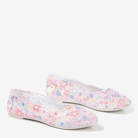 Женские балетки с розовыми цветами Florensita - Обувь