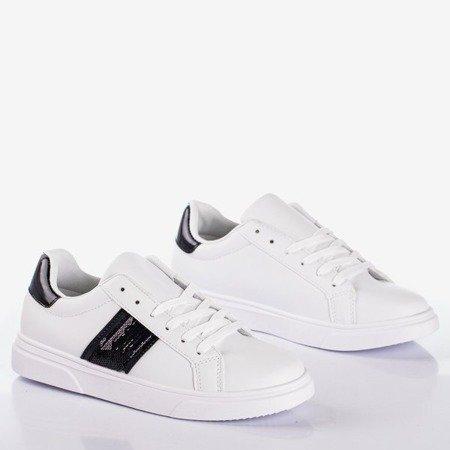 Женские белые спортивные кроссовки с черными вставками Hypnos - Обувь