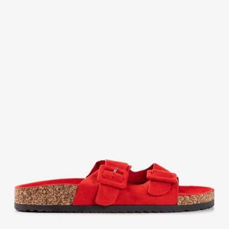 Женские красные тапочки с пряжками Recasa - Обувь