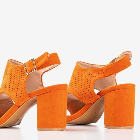 Женские оранжевые сандалии на более высокой стойке с голенищем Ilonepa - Обувь