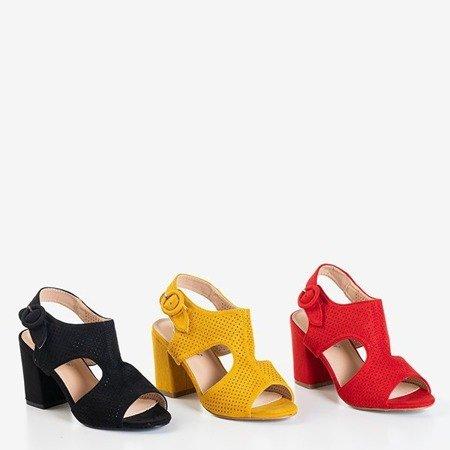 Женские черные ажурные сандалии на столбике Cytuss - Обувь