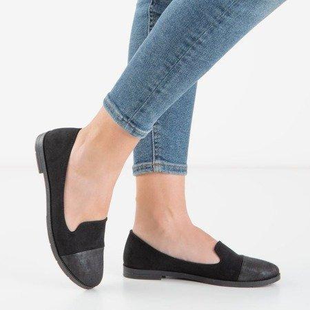 Женские черные мокасины с тиснением Lopsa - Обувь