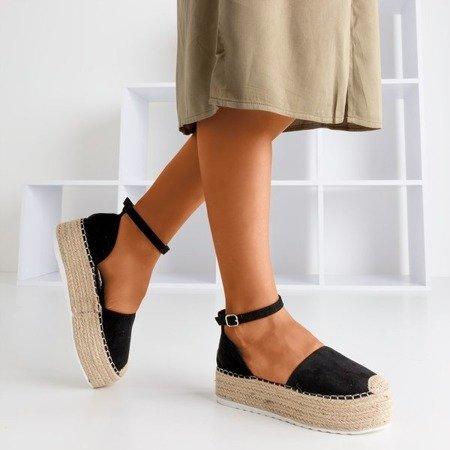 Женские черные эспадрильи на платформе Savanto - Обувь