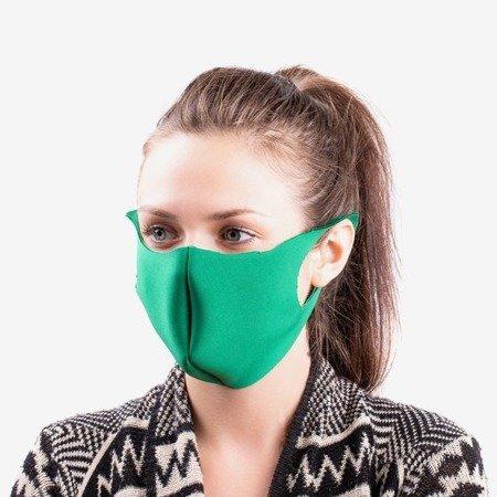 Зеленая однослойная маска для лица - Маски