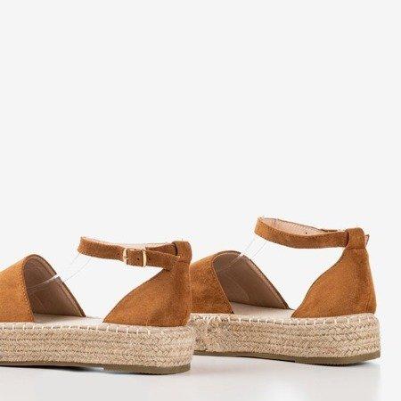 Коричневые женские эспадрильи на платформе Maritel - Обувь