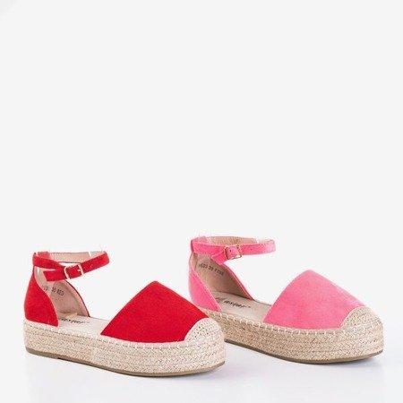 Красные женские эспадрильи на платформе Maritel - Обувь