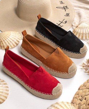 Красные эспадрильи на платформе Umox - Обувь