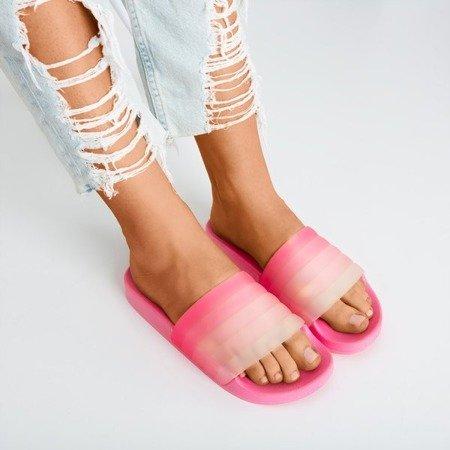 Неоново-розовые резиновые тапочки Nalina - Обувь