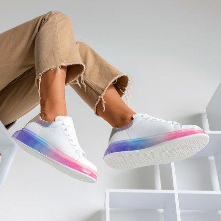 Разноцветные кроссовки с голографической вставкой Judite - Обувь
