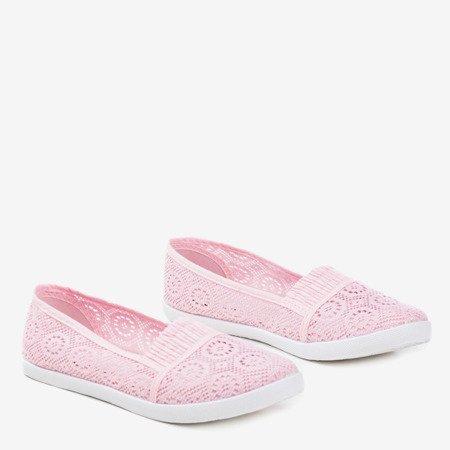 Розовая комбинация - кружевные балетки Noremies - Обувь