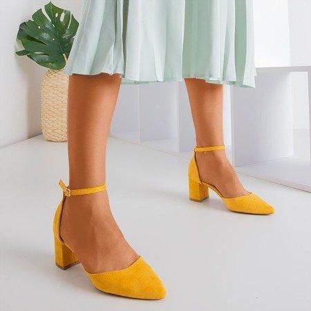 Сандалии горчичного цвета на верхней стойке Vispane - Обувь