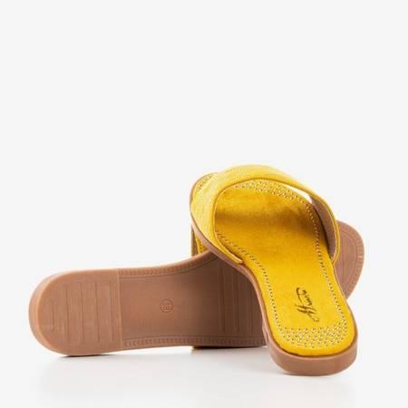 Сандалии горчичного цвета с золотыми форсунками Billi - Обувь