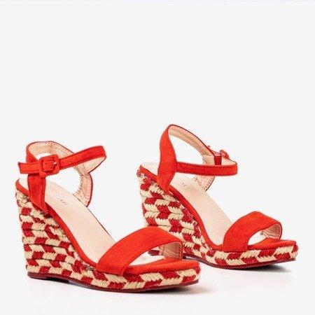 Сандалии на танкетке Red Porcissa - Обувь