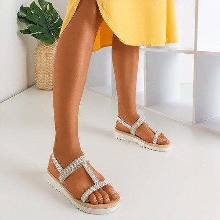 Серебряные сандалии с украшениями Forsola - Обувь