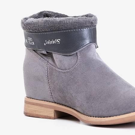 Серые ботинки на скрытой танкетке Jelluma