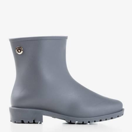 Серые матовые резиновые сапоги для дождливого шоу - Обувь