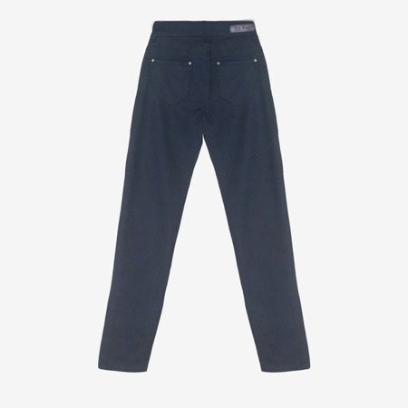 Темно-синие эластичные брюки - Одежда