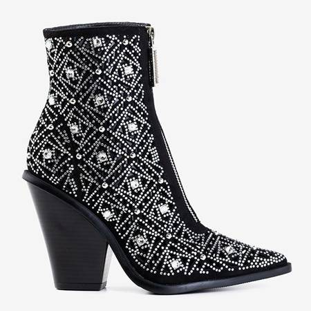 Черные ажурные ковбойские сапоги с орнаментом Sammela - Обувь