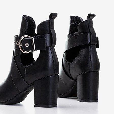 Черные женские ботильоны с вырезами Kamila - Обувь