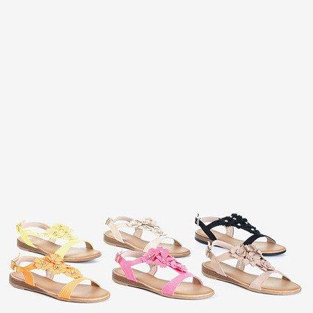 Черные женские сандалии с цветами Madlen - Обувь