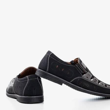 Черные и серые мужские туфли Lenni - Обувь