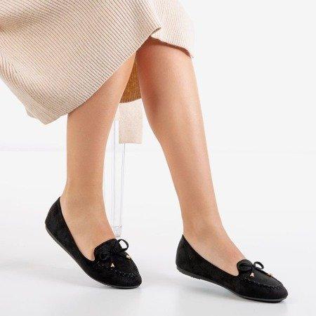 Черные мокасины с бантом Petronella - Обувь
