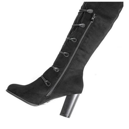 Черные сапоги на высокой стойке Lovana - Обувь