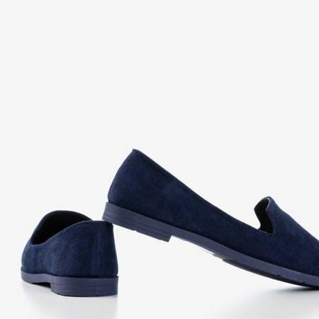 женские темно-синие лоферы из эко-замши Mossolia - Обувь