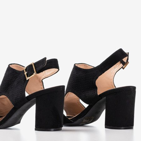 женские черные сандалии на более высокой стойке с верхом Itemsa - Обувь