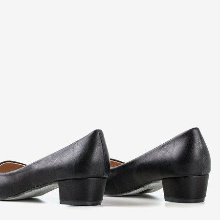 женские черные туфли-лодочки на плоской подошве Suranttes - Обувь