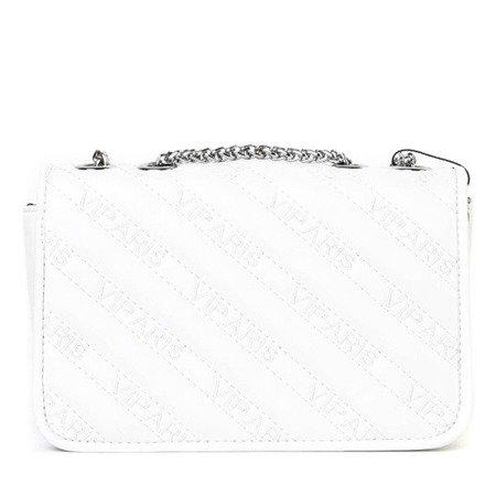Mała pikowana torebka na ramię w kolorze białym - Torebki