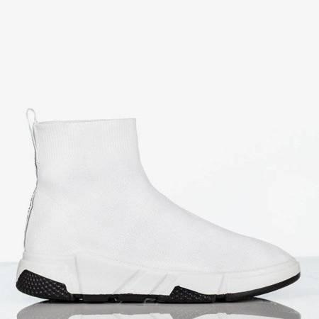 OUTLET Женские белые спортивные туфли с носком сверху Nyla - Обувь