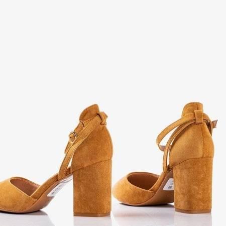 OUTLET Коричневые туфли-лодочки для более высокой вечеринки - Обувь