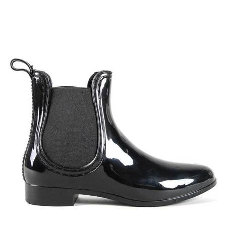 OUTLET Черные женские резиновые сапоги с миндалевидным мыском Idelle - Обувь