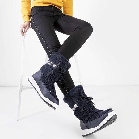 Утепленные женские зимние ботинки Columbita темно-синего цвета - обувь