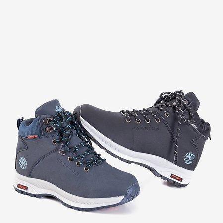 Утепленные женские зимние ботинки темно-синего цвета Emeralda - Обувь
