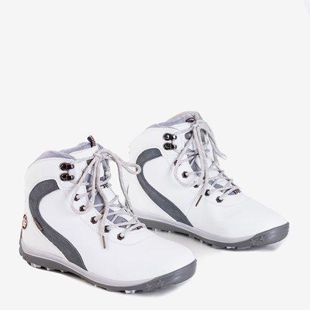 Женские белые утепленные зимние сапоги от Alfreda - Обувь