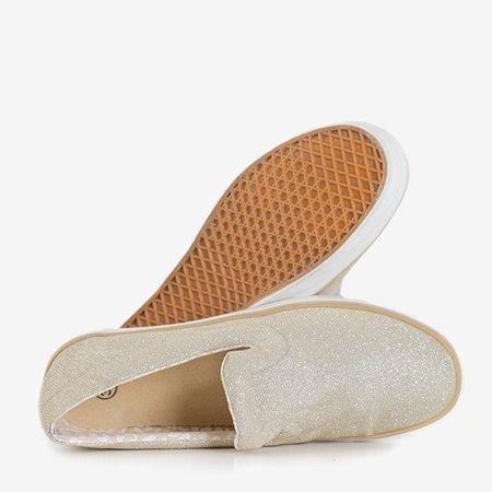 Женские кроссовки OUTLET Gold без шнуровки Leokadia - Обувь