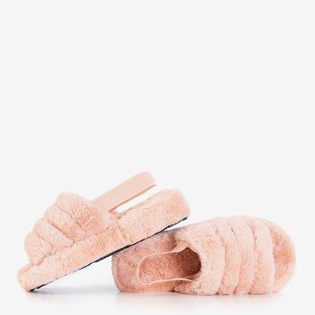 Женские меховые тапочки Fornax Powdery - обувь